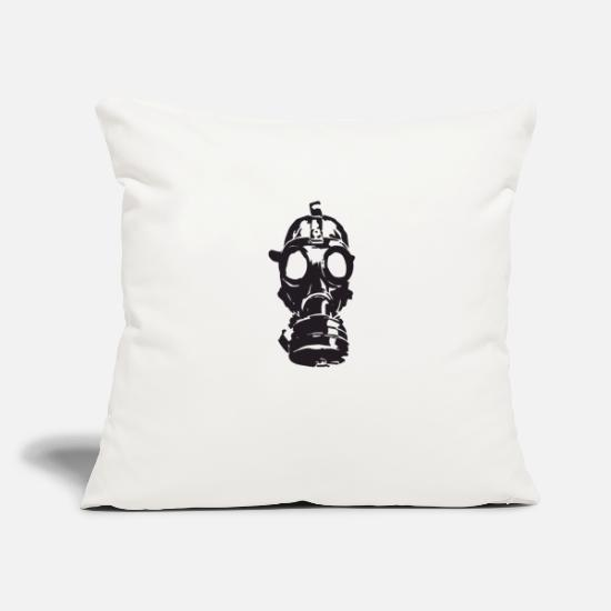 "Hack Pillow Cases - gas-mask - Throw Pillow Cover 18"" x 18"" natural white"