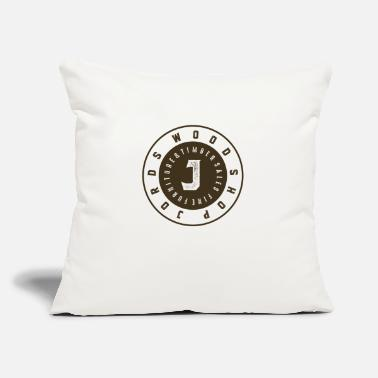 "News Channel JordsWoodShop New Age Logo Round - Throw Pillow Cover 18"" x 18"""