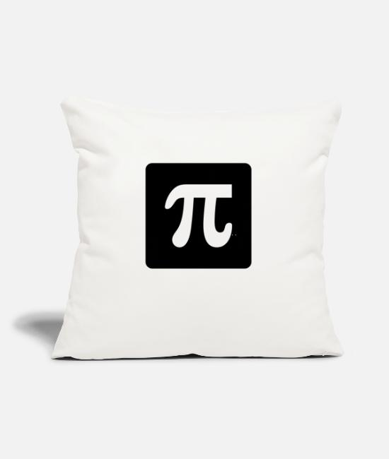 "Mortarboard Pillow Cases - Pi - Throw Pillow Cover 18"" x 18"" natural white"