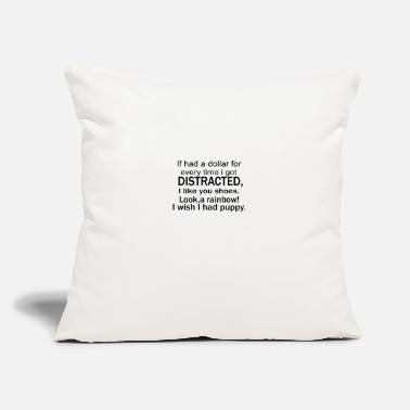 "Distracted distracted - Throw Pillow Cover 18"" x 18"""