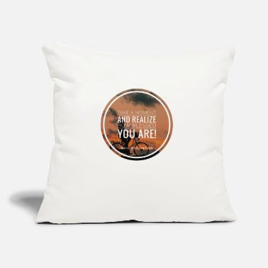 "Bless You blessed you - Throw Pillow Cover 18"" x 18"""