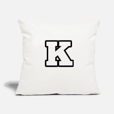 "K Alphabet K from alphabet 1 - Throw Pillow Cover 18"" x 18"""