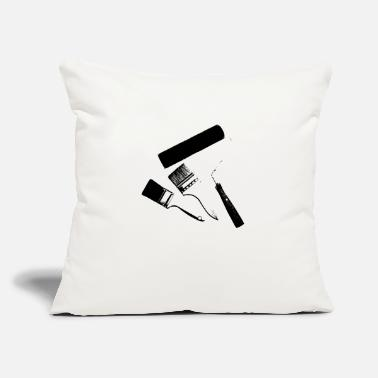 "Paint Brush Paint brushes - Throw Pillow Cover 18"" x 18"""