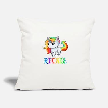 "Ricky Rickie Unicorn - Throw Pillow Cover 18"" x 18"""