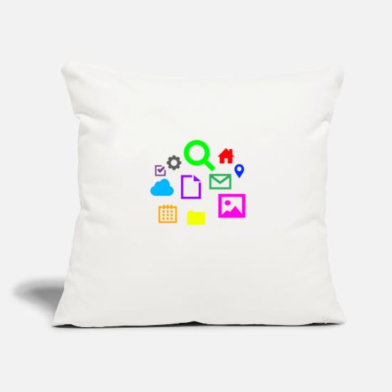 "Tech Pillow Cases - Internet - Throw Pillow Cover 18"" x 18"" natural white"