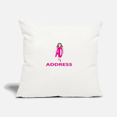 "Address ADDRESS - Throw Pillow Cover 18"" x 18"""
