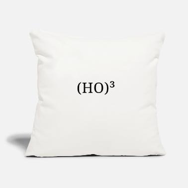 "Ho Ho Ho (HO)³ - HO HO HO - Throw Pillow Cover 18"" x 18"""