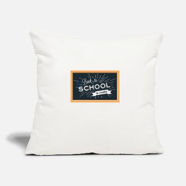"School Back To School Background - Throw Pillow Cover 18"" x 18"""