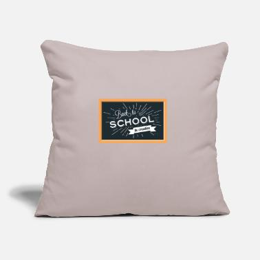 "Back To School Back To School Background - Throw Pillow Cover 18"" x 18"""