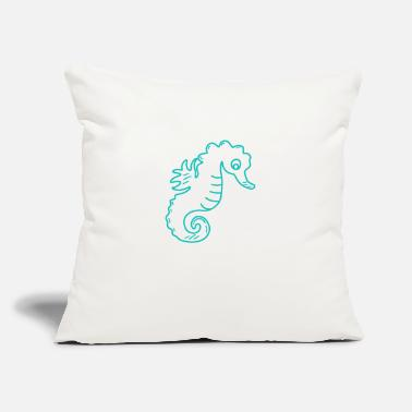 "Poor Poor seahorse - Throw Pillow Cover 18"" x 18"""