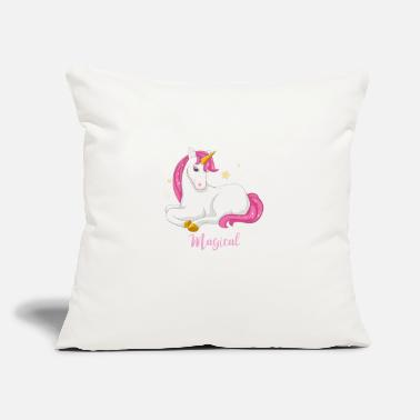 "cute unicorn - Throw Pillow Cover 18"" x 18"""