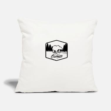 "Outdoor outdoor - Throw Pillow Cover 18"" x 18"""