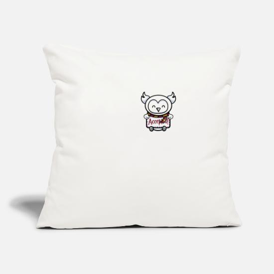 "Game Pillow Cases - Accepted - Throw Pillow Cover 18"" x 18"" natural white"