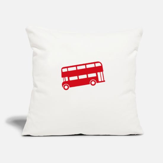 "Bus Pillow Cases - Bus uk funny - Throw Pillow Cover 18"" x 18"" natural white"