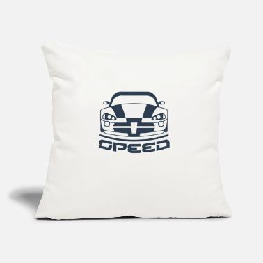 "Speed car racing - Throw Pillow Cover 18"" x 18"""