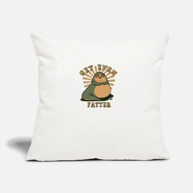 "Fatter Even Fatter - Throw Pillow Cover 18"" x 18"""