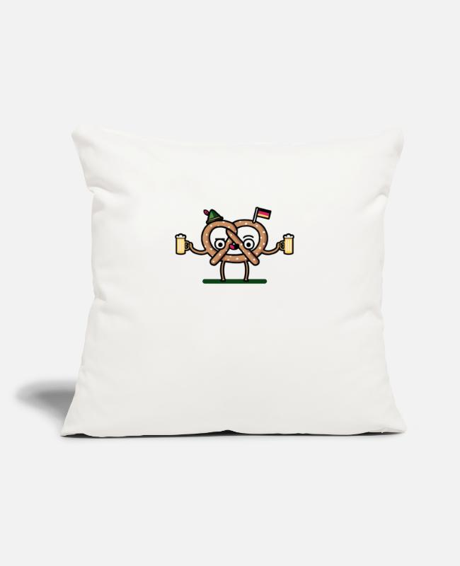 "Movie Pillow Cases - Gluten Tag - Throw Pillow Cover 18"" x 18"" natural white"