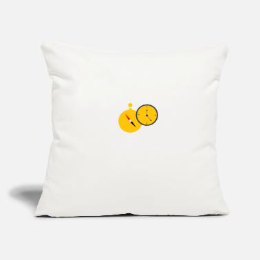 "Clock CLOCK - Throw Pillow Cover 18"" x 18"""