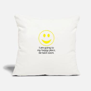 "Places Of Interest Happy Place - Throw Pillow Cover 18"" x 18"""