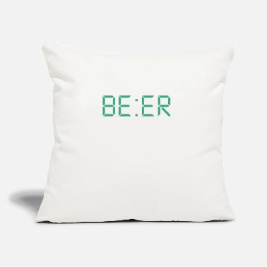 "Bière Biere Beer be:er - Throw Pillow Cover 18"" x 18"""