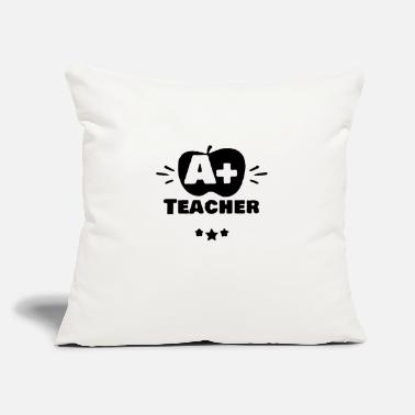 "Plus A plus teacher - Throw Pillow Cover 18"" x 18"""