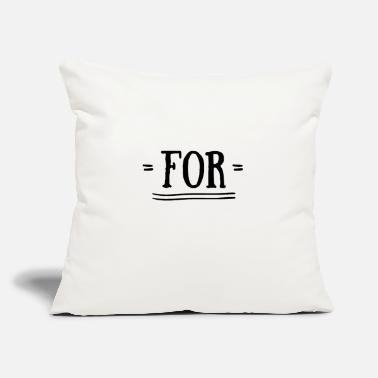 "Together For together with - Throw Pillow Cover 18"" x 18"""