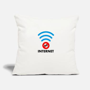 "Internet no internet - Throw Pillow Cover 18"" x 18"""