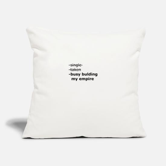 "Money Pillow Cases - BUSY - Throw Pillow Cover 18"" x 18"" natural white"