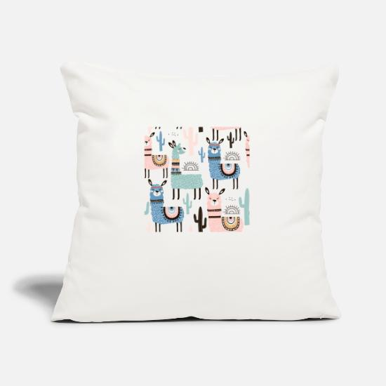 "Llama Pillow Cases - Llama - Throw Pillow Cover 18"" x 18"" natural white"