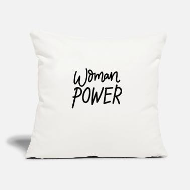 "Woman Power Woman power - Throw Pillow Cover 18"" x 18"""