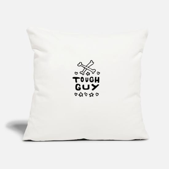 "Love Pillow Cases - Baby Sayings Boy Cute Little Brother tough Guy - Throw Pillow Cover 18"" x 18"" natural white"