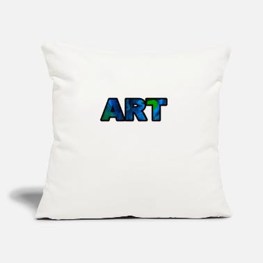 "Art Art Art lettering - Throw Pillow Cover 18"" x 18"""