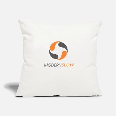 "Slow Modern Slow - Throw Pillow Cover 18"" x 18"""