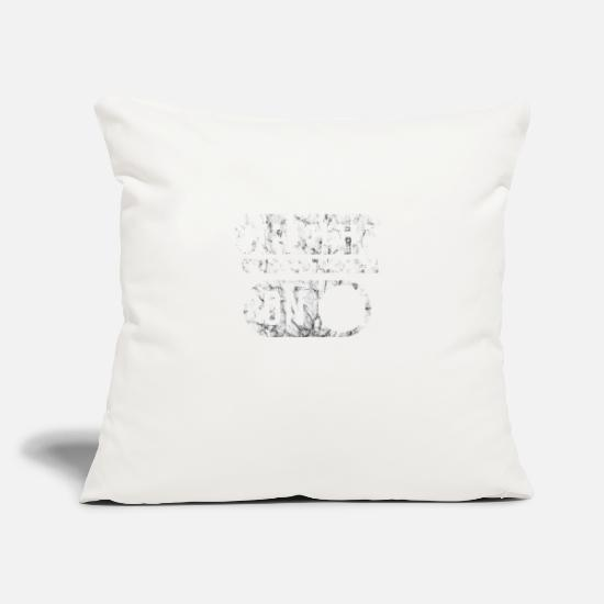 "Creep Pillow Cases - CREEP MODE ON - Throw Pillow Cover 18"" x 18"" natural white"