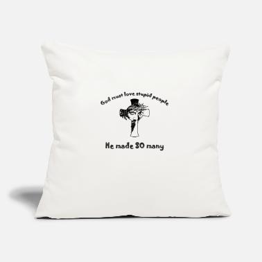 "Satire A nice design with Jesus on cross and a satire. - Throw Pillow Cover 18"" x 18"""