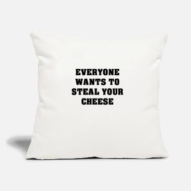 "Steal Steal Cheese - Throw Pillow Cover 18"" x 18"""