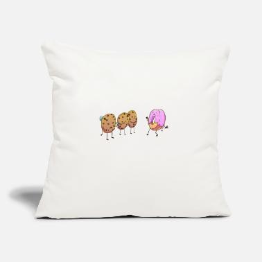 "Donut cookie fight wrong neighborhood conflict swe - Throw Pillow Cover 18"" x 18"""