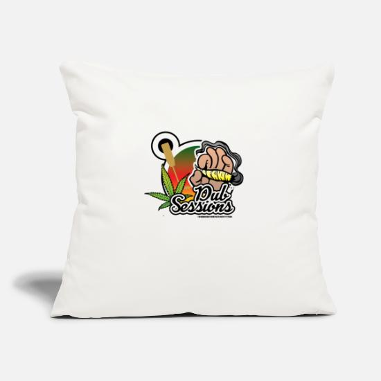"Rasta Pillow Cases - DUB SESSIONS - Throw Pillow Cover 18"" x 18"" natural white"