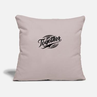 "Together Together - Throw Pillow Cover 18"" x 18"""
