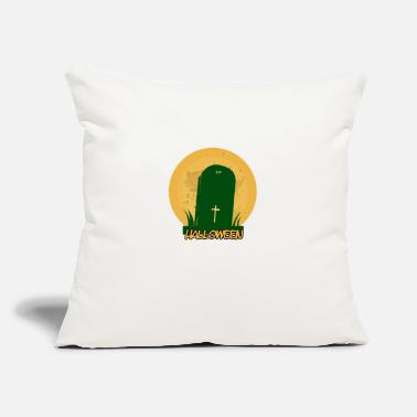 "Grave halloween grave - Throw Pillow Cover 18"" x 18"""