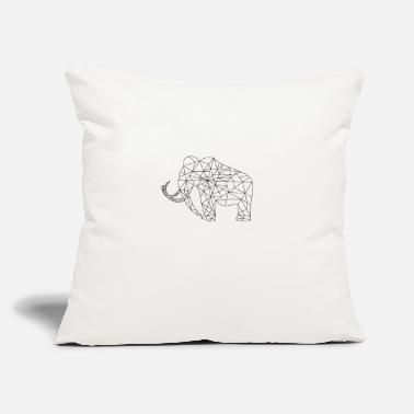 "Primeval Times Mammoth Primeval Times Extinct Silhouette Graphic - Throw Pillow Cover 18"" x 18"""