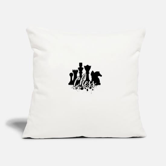 "Chess Pillow Cases - Chess - Throw Pillow Cover 18"" x 18"" natural white"