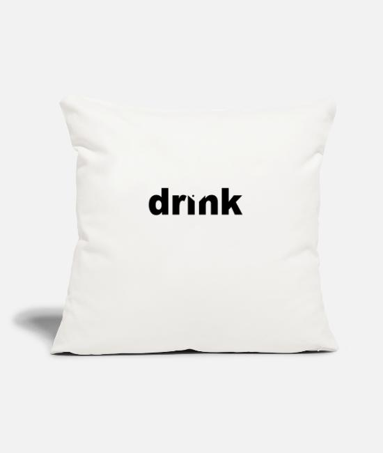"Digital Pillow Cases - drink - Throw Pillow Cover 18"" x 18"" natural white"