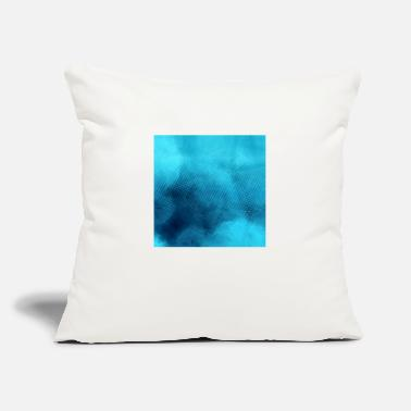 "Pattern blue circle pattern - Throw Pillow Cover 18"" x 18"""