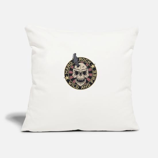 "Rock Pillow Cases - Rock music 6 - Throw Pillow Cover 18"" x 18"" natural white"