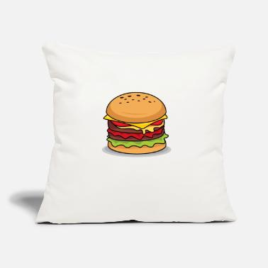 "Beautiful Burger The perfect Burger! - Throw Pillow Cover 18"" x 18"""