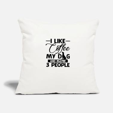 "Coffe I like coffe my 01 - Throw Pillow Cover 18"" x 18"""