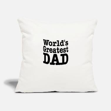 "Worlds greatest 01 - Throw Pillow Cover 18"" x 18"""