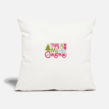 "Christmas This Is My First Christmas - Throw Pillow Cover 18"" x 18"""