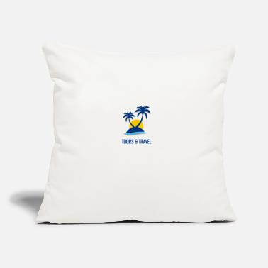 "Tourist Tourist - Throw Pillow Cover 18"" x 18"""